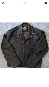 Very Rare ! Harley-Davidson Winged Distresses Leather Jacket Size ( L ) in Fort Rucker, Alabama