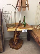 wood slab end table in Alamogordo, New Mexico