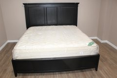 King Size solid wood bed and mattress in perfect condition for sale! in CyFair, Texas