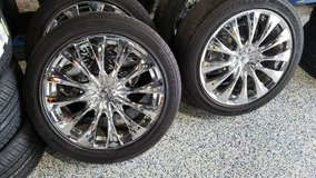 18 INCH CHROME RIMS FIVE LUG in Cherry Point, North Carolina