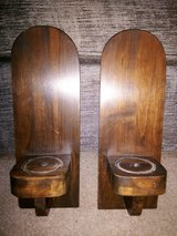 Wood Candleholder Wall Sconce Set in Converse, Texas