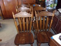 Set of Six Wooden Chairs in Fort Riley, Kansas