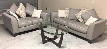 Sofa, Love Seat with matching Cocktail Table & Entertainment Center in Conroe, Texas