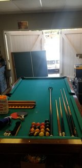 Pool Table with removable ping pong Table on top in Vista, California