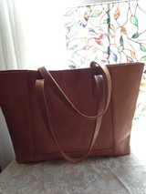 Noonday Collection Modern Leather Tote Bag in The Woodlands, Texas