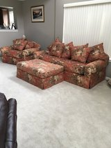 Couch, chair and movable ottoman in Elgin, Illinois