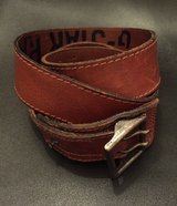 ##HAS TO GO TODAY## G STAR RAW Tan Genuine Leather/stressed look BELT in Wiesbaden, GE