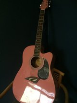Pink Acoustic Guitar in Spring, Texas