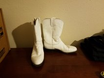 Justin White 7.5 Cowgirl Cowboy Boots Country Farm Barn Halloween Costume NFL Cheerleader Texans... in Kingwood, Texas