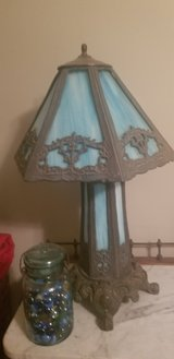 OLD and heavy blue slag glass lamp in Warner Robins, Georgia