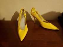 Yellow Vanity Heels 7.5 Retro Vintage 80s 90s Halloween Costume Valley Girl Punk Rock in Kingwood, Texas