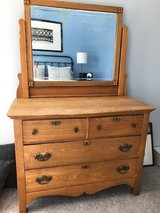 Antique dresser with mirror in Shorewood, Illinois