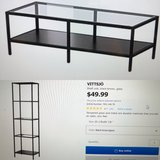 Ikea TV stand and 2 shelving units in Naperville, Illinois