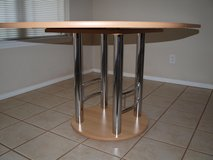 "Wood/Metal Dining Table 61.5""x44""Diameter.Without Extension 44""Diameter in Wiesbaden, GE"