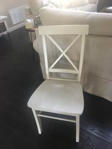 2 cream dining chairs in Alamogordo, New Mexico