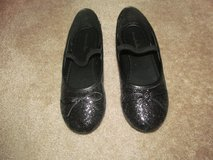 Girls size 4 black sequined flats in Fort Benning, Georgia