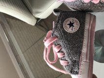 Pink and silver girls converse size 2 in Baytown, Texas