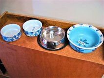 dog bowls - like new in Chicago, Illinois