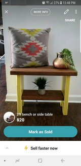 Small bench/ side table with bottom shelf in Columbus, Georgia