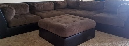 L shape sectional and large ottoman in Lawton, Oklahoma