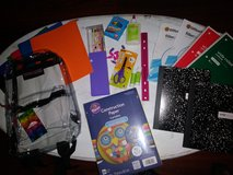 Supplies & clear backpack in Kingwood, Texas