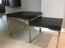 2 Black and Chrome Nesting Tables/Coffee Table 2 levels/Separate Tables in Kingwood, Texas