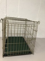 wire dog crate with cushion in Naperville, Illinois