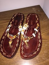 Women's size 6 Louis Vuitton Sandals in DeKalb, Illinois