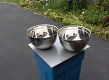TWO STAINLESS STEEL MIXING BOWLS in Chicago, Illinois