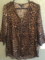 Woman's Express Leopard Top, size medium in Vacaville, California