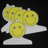 Children's Boutique Garment Retail Display Hangers Yellow Smiley Face 5 Handmade Cardboard in Byron, Georgia