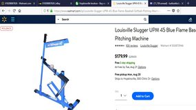 Louisville Slugger UPM 45 Blue Flame Baseball Softball Pitching Machine MSRP: $219 in Hopkinsville, Kentucky