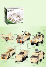 Army LEGO trucks and planes in Camp Lejeune, North Carolina