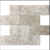 "26 Tiles 3"" x 6"" Travertine Natural Stone Noce 73137 Tumble Marbled Tile Bathroom Back Splash Co... in Kingwood, Texas"