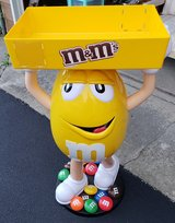 LARGE Yellow M&M Display With Tray in Chicago, Illinois