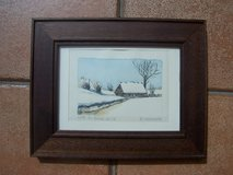 Framed (Original) Painting (Hut on Ice) in Mannheim, GE
