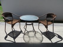 Patio table and 2 chairs in Ramstein, Germany