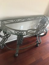 Beautiful Glass Top Entry Table in Hemet, California