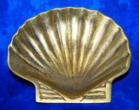 "Vintage Brass Seashell Footed Bowl / Trinket Dish, 5 1/2"" in Alamogordo, New Mexico"