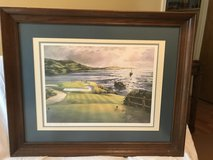 A signed/framed Tom Lynch Golf Print in Kingwood, Texas