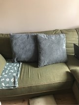 two large grey cushions in Lakenheath, UK
