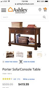 Ashley Furniture NIB Console Table in Bellaire, Texas