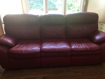 Leather Recliner sofa and a matching chair in Plainfield, Illinois