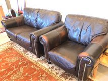 Leather Love seat and sofa chair in Naperville, Illinois