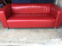 Red modern couch in Camp Pendleton, California
