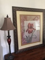 Framed floral picture in Camp Lejeune, North Carolina