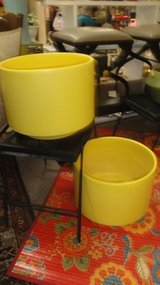 mcm gainey yellow pair of pottery planters large rare in Nellis AFB, Nevada