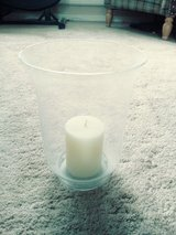 glass vase and candle in Lakenheath, UK