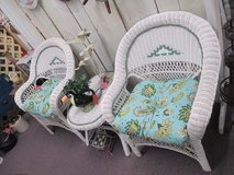 2 Wicker Chairs With Matching Table in Camp Lejeune, North Carolina
