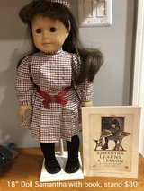 "18"" American Girl Samantha Doll with stand in Naperville, Illinois"